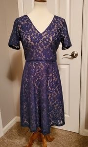 NWOT Andrew Marc Lace Fit & Flare Dress